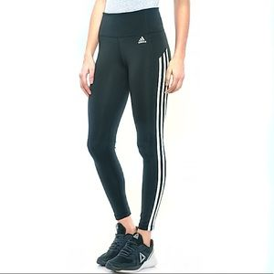 Adidas 3 Stripe 7/8 Leggings Ivy Green NWT